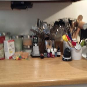 Kitchen counter after